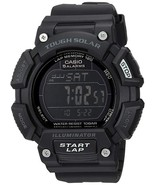 Casio - STLS110H-1B2 - Solar Watch, 5 Alarms, World Time, 2 Timers - Black - $39.55