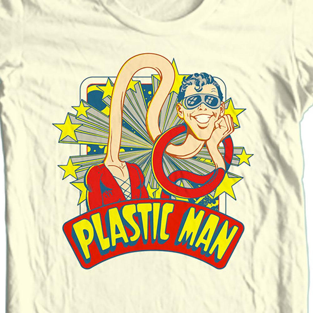 Plastic man t shirt prankster saturday morning cartoon dc super hero tee dco670