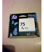 GENUINE HP 75 Tri-Color Ink Cartridge--New & Sealed (Warr. Exp. Dec. 2015) - $15.00