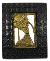 Dokra Art Handmade Brass Wall Hanging Woman Face Painting (9.5/7.5 Inch) - $87.89