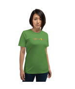 Merry X-mas (Cursive) Short-Sleeve Unisex PREMIUM T-Shirt - Red or Green... - $21.55+
