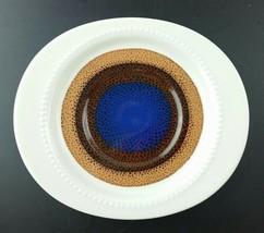 5 Rosenthal Continental TRIO Saucer Studio Line blue brown mid-century Modern - $24.74