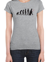 094 Darth Vader Evolution women's T-Shirt funny empire jedi star geek wa... - $17.99+