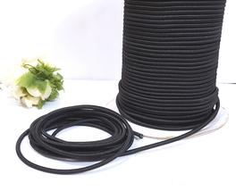 Approx 3mm wide 5-20yds Black Elastic Thread Round Elastic Cord ET10 - $5.99+