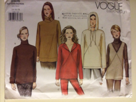 Vogue Pattern 2506 Misses Loose Fitting Top Size 14-18 - $14.95