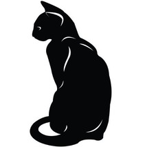 Cat Kitten Wall Decal Sticker - Animal Decoration Mural - 72 in. Black [... - $54.95