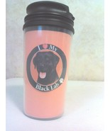 Black Lab Dog Thermo Travel Mug Drinking Cup Glass With Screw on Lids ALL BREED - $5.95