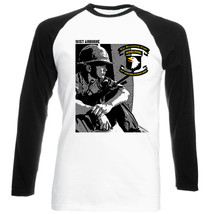 101 St Airborne Division 1    Cotton Black Sleeved Baseball T Shirt  S M L Xl Xxl - $27.40