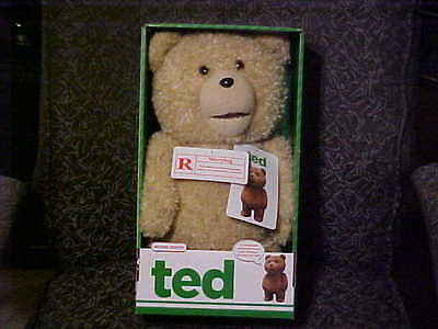 """15"""" Talking Ted Teddy Bear W/Moving Mouth Explicit Version N/I/Box Commonwealth"""