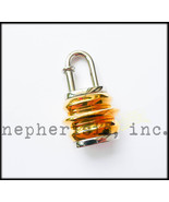 RARE Hermes LANTERN Cadena Lock or Bag Charm EXTREME HERMES 1991 Gold/Si... - $950.00