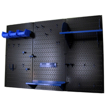 4ft Standard Tool Storage Kit - Black Toolboard & Blue Accessories - $166.59