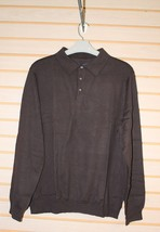 NEW CROFT & BARROW MENS SIZE 4XB TALL NAVY BLUE POLO SWEATER W LONG SLEEVES - $19.99