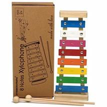 Colorful 8 Tones Hand Knock Musical Instrument Xylophone with 2 (Multico... - $14.61