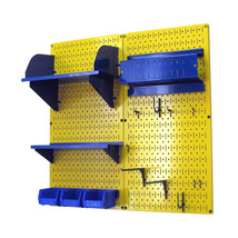 4ft Standard Tool Storage Kit - Yellow Toolboard & Blue Accessories - $168.59