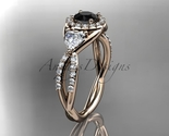 Leafring321 rose gold  diamond wedding ring  diamond engagement ring  black diamond  1 thumb155 crop