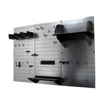 4ft Standard Tool Storage Kit Galvanized Metallic Toolboard & Black Acce... - $161.59