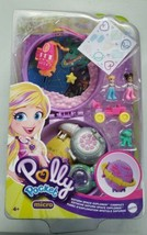 Polly Pocket Saturn Space Explorer Compact, 2 Micro Dolls & Accessories NEW - $14.99