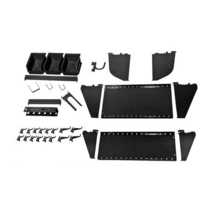 Slotted Tool Board Accessory Kit For Pegboard And Slotted Tool Board Black - $78.59