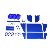 Slotted Tool Board Accessory Kit For Pegboard And Slotted Tool Board Blue - $82.82