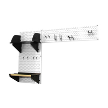 Pegboard Garden Tool Board Organizer With White Pegboard And Black Acces... - $106.82
