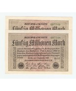 Germany Collection of 2x Consecutive 50 million... - ₨774.42 INR