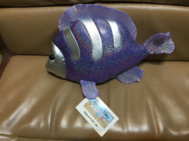 2000 Animal Alley PURPLE SPARKLE & SILVER FISH PLUSH Toys R Us NWT - $12.86