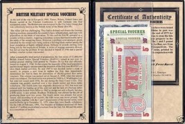 5 British Military Banknotes with Certificate & Album - $18.80