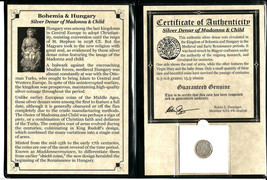 Madonna and Child Silver Denar Coin, Album,Story & Certificate - $31.67