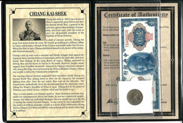 Chiang Kai-Shek Coin and Banknote With Story,Album & Certificate - $37.62