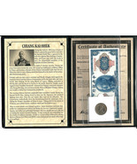 Chiang Kai-Shek Coin and Banknote With Story,Album & Certificate - €31,45 EUR