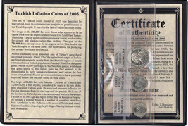 Turkish Inflation 3 Coins Album with Certificate and Story - $20.90