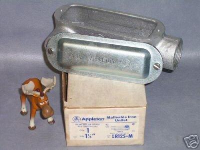 Appleton Malleable Iron Unilet LR125-M Pull Elbow Appleton Electric