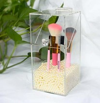 Liuchao Clear Makeup Pearls Box Cosmetic Storage Box Acrylic Makeup Brus... - $25.86