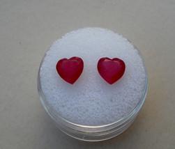 Ruby Heart gem pair 7mm each - $49.99