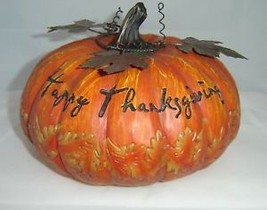 Thanksgiving Pumpkin Garden Table Decor Polyresin image 2