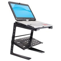 PYLE-PRO PLPTS26 Laptop Computer Stand for DJ with Storage Shelf - $52.59