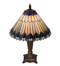 "17"" High Tiffany Jeweled Peacock Accent Lamp - $402.00"