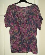 WRAP Designed London Women's Multicolor Short Sleeve Dress Blouse Top 12 US NEW! - $39.99