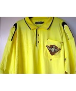 Coogi Australia Polo Shirt 5XL Yellow Pocket Detail Embroidery XXXXXL Mens - $79.98