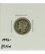 1942 United States Mercury Dime 90% Silver Rating: (F)  Fine  - ₨102.74 INR