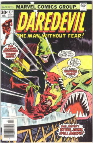 Daredevil Comic Book #137 Marvel Comics 1976 VERY GOOD+