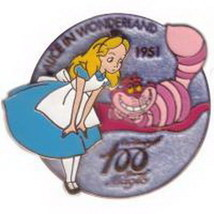 Alice In Wonderland Cheshire Cat Authentic Disney Japan  pin On Card - $74.99