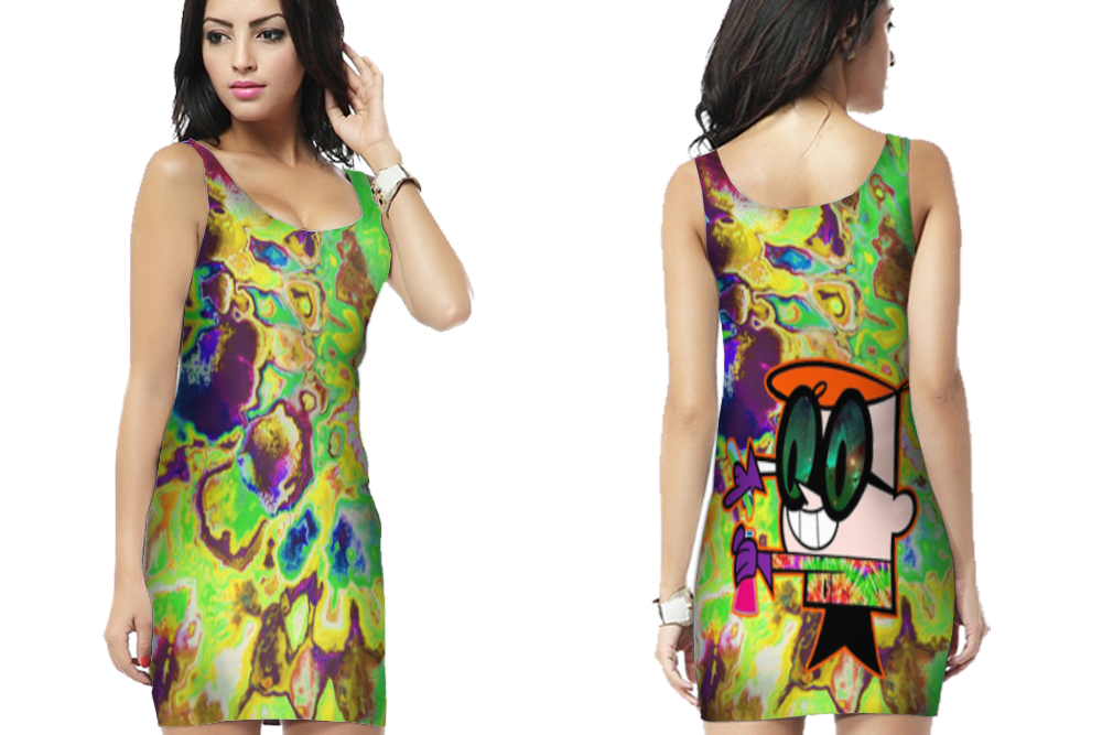 hallucinate dexter DMT psychedelic Bodycon Dress