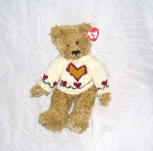"Ty Attic Treasures HEARTLEY The Bear JOINTED 12"" Plush NEW WITH TAG! 1993 - $7.96"