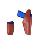 New Barsony Burgundy Leather OWB Holster + Mag Pouch Astra Beretta Full ... - $69.99
