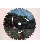 Order 4 Saw Blade Spring Pastures in Oils Custom Order Dads Day - $35.00