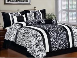"CAL KING Bed in a Bag 7 pcs ""Micro Fur"" Comforter Bedding Ensemble Set - SAFARI - $74.96"