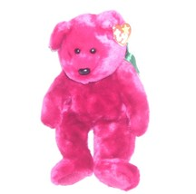 Ty TEDDY Cranberry Colored Plush Beanie Buddy NEW WITH TAG! 1998 - $9.96