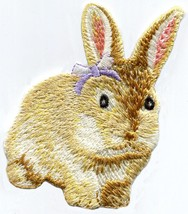 Rabbit bunny hare embroidered applique iron-on patch S-1441 - £2.24 GBP