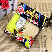 PU short wallet w/ colorful printing of Naruto Uzumaki & Uchiha Sasuke w... - $12.50